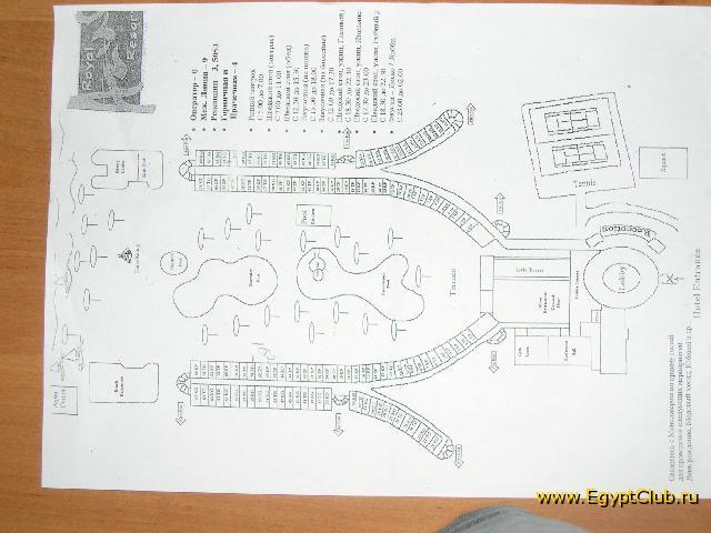 схема отеля : Курорты Египта, Отели : Египет : Фотографии : Фото из Египта : Египетский клуб : EgyptClub.ru.